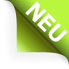 NEU - Papierecke umgeschlagen