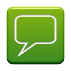 Grüner Button: Symbol Sprechblase