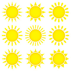 9 Yellow Sun Icons