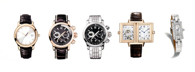 Five compositions of exclusive expensive wrist watches
