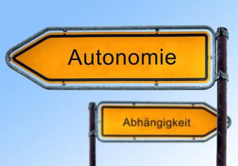 Strassenschild 5 - Autonomie