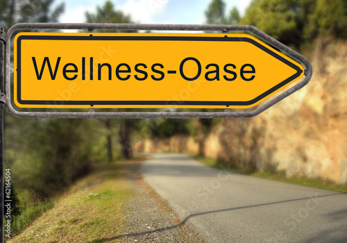 canvas print picture Strassenschild 15 - Wellnessoase