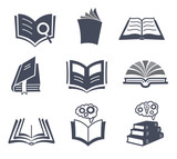 Set of vector book icons.