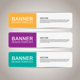 Modern colorful banners