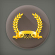 Gold wreath, long shadow vector icon