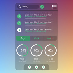 Flat Mobile UI Design.