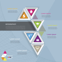 Modern vector infographic template design for your business