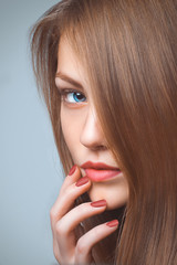 Beautiful Woman Portrait with healthy Hair