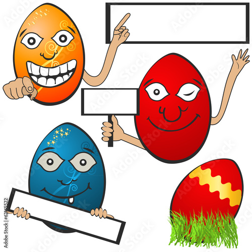 Easter eggs with banners