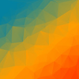 Abstract rainbow triangle background for your designs