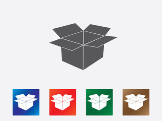 Open box icons illustration