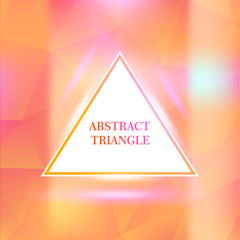Triangle border with light effects