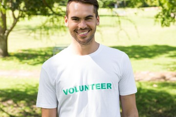 Male volunteer in park
