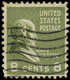 USA-CIRCA 1938: A postage stamp shows image portrait of Martin V