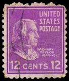 USA - CIRCA 1938: A stamp printed in USA shows portrait of Zacha