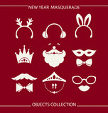 New Year masquerade objects