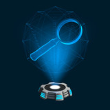 Hologramm Icon Lupe