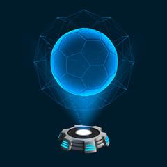 Hologramm Icon Fußball