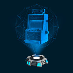 Hologramm Icon Slotmachine