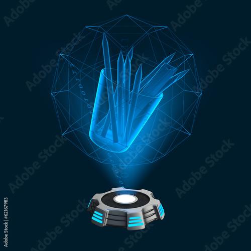 Hologramm Icon Stifteglas
