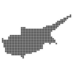 Pixelkarte schwarz - Zypern