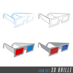 3D Iconset 3D Brille