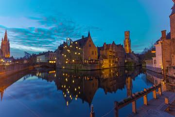 Belfort and Canal in Bruges Brugge