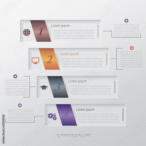 Modern vector infographic template design