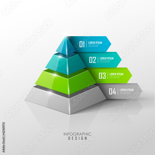 Vector infographic or web design template