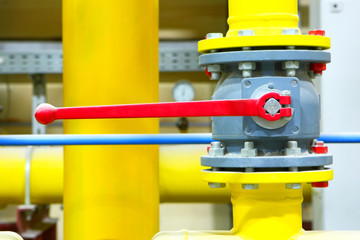 Gas pipeline of a high pressure.