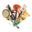 Musical instruments, orchestra or a collage of music - 62169746
