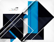 Geometric shape abstract business template