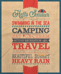 Summer poster/ Vector illustration