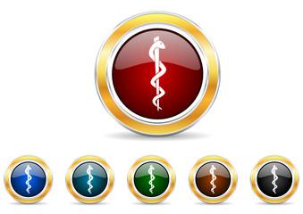 hospital icon vector set