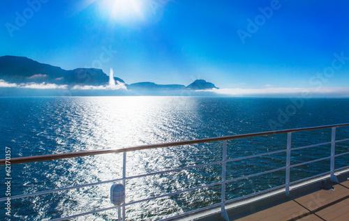 canvas print picture Fjord in Island, Aussicht vom Schiff