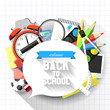 Back to school - Vector flat design illustration