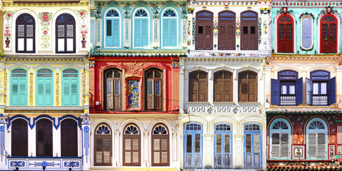 Collage of the unique windows.