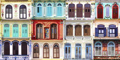Fototapeta Collage of the unique windows.
