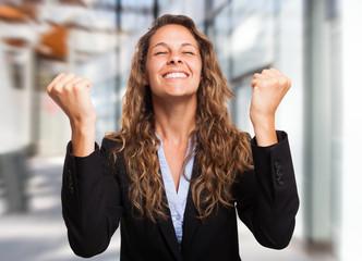 Very happy woman