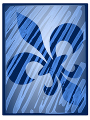Fleur de lis reflection - illustration