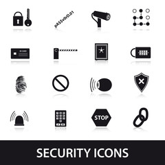 security icons set eps10
