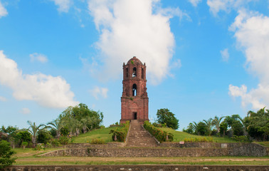 Bell tower on top of a hill