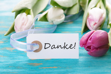 Banner with Danke