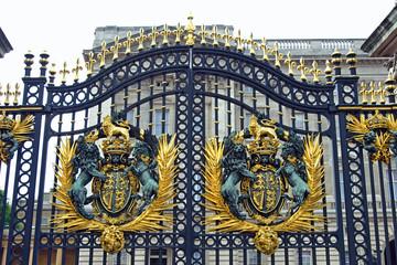 Gate at Buckingham Palace.
