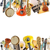 Musical instruments, orchestra or a collage of music - 62174701