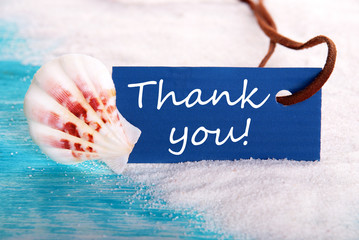 Sea Label with Thank You
