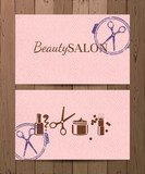Beauty salon cards