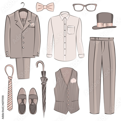 sketch groom clothing