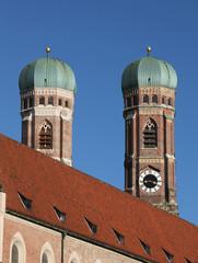 Türme der Frauenkirche in München (Liebfrauendom)