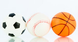Sport balls, Baseball, football, basketball